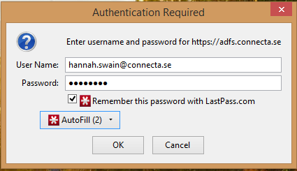 ADFS authentication and LastPass « Hannah's SharePoint
