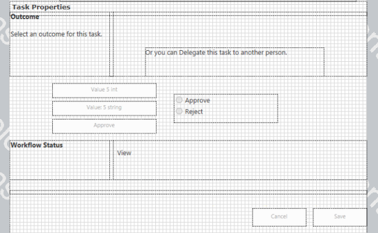 Nintex flexi task form with three buttons and outcome control