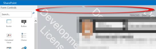 No ribbon in Nintex Forms Designer
